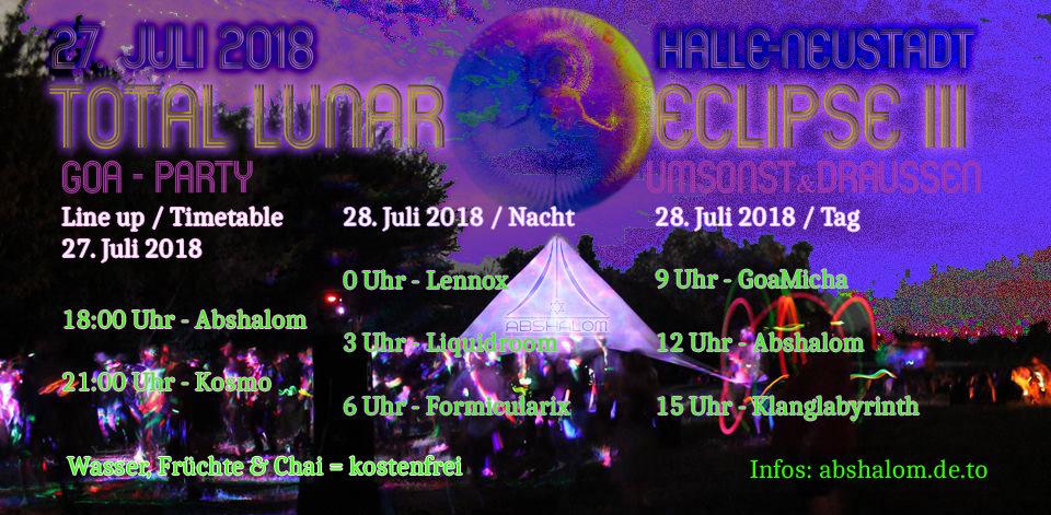 Party Flyer Total Lunar Eclipse III - umsonst & draussen 27 Jul '18, 18:00
