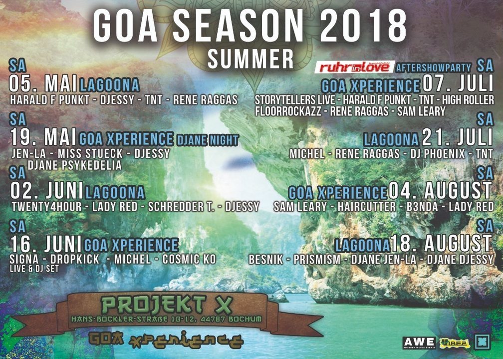 Party Flyer Goa Xperience - The Tribe 4 Aug '18, 23:00