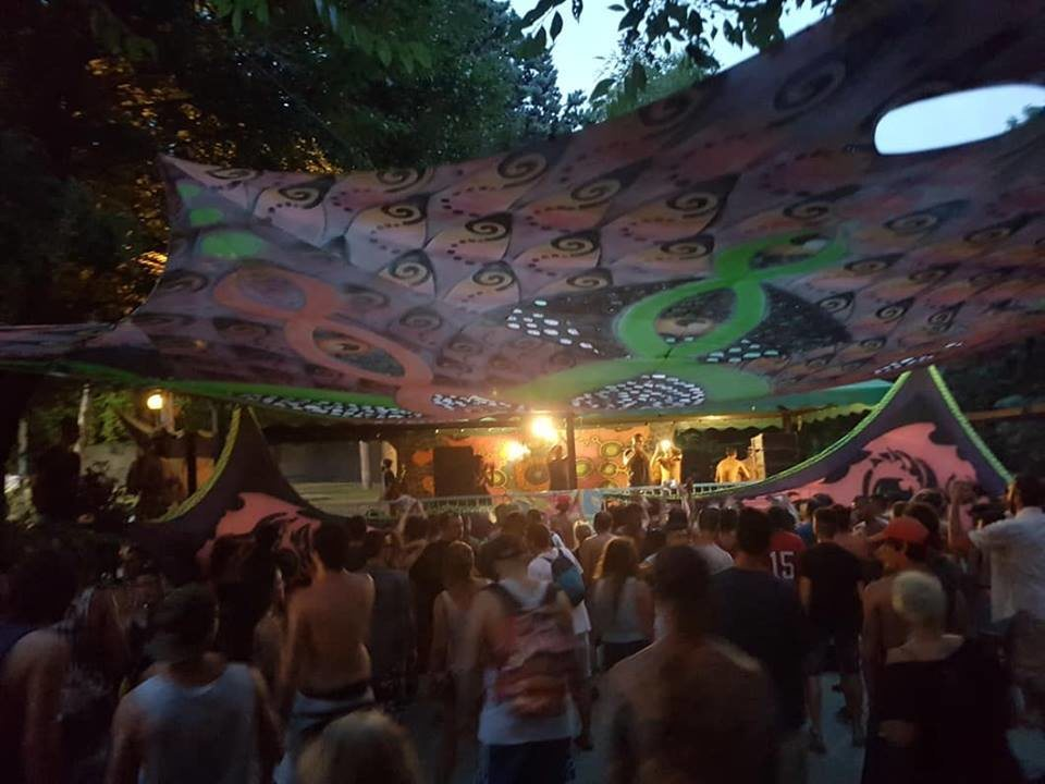 Party Flyer Disturbia in Pool 2 stage (PsyTrance+Minimale) 5 Aug '18, 11:00