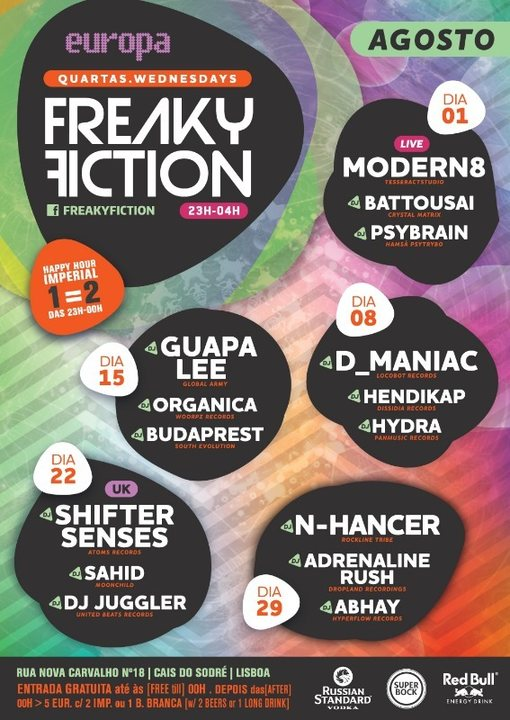 Party Flyer FREAKY FICTION 8 Aug '18, 23:00