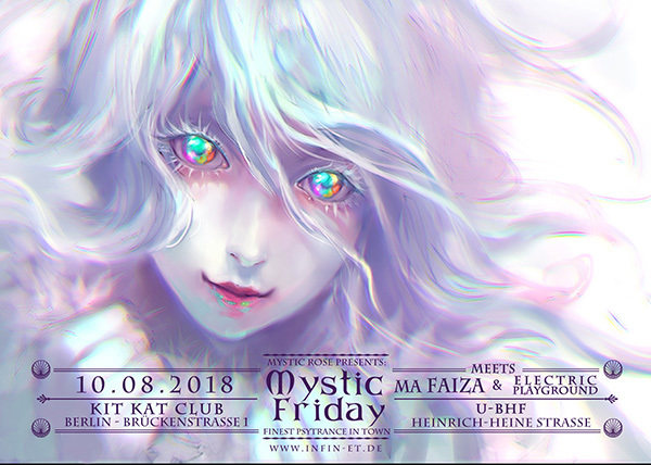 Party Flyer Mystic Friday meets Ma Faiza & Electric Playground 10 Aug '18, 23:00
