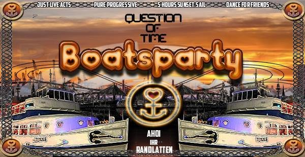 Party Flyer Quenstion of Time`s Boat´s Party 18 Aug '18, 15:00