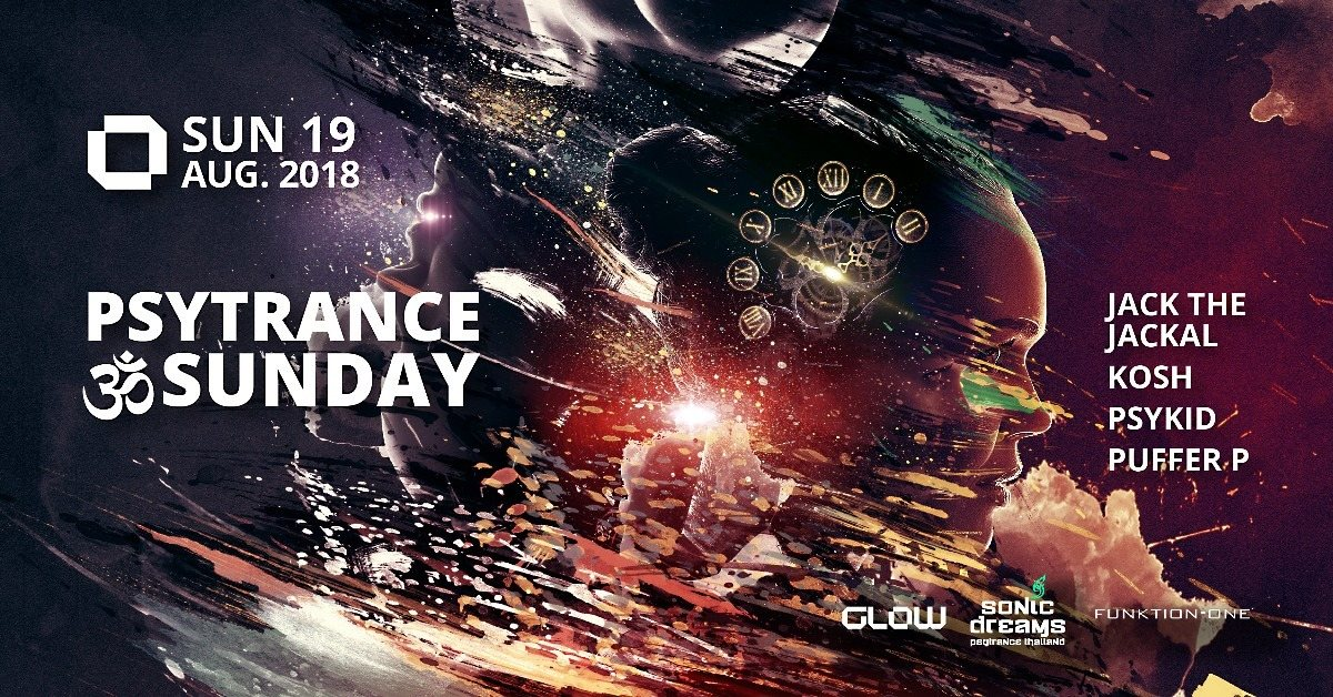 Party Flyer PsyTrance ॐ Sunday at GLOW 19 Aug '18, 21:30