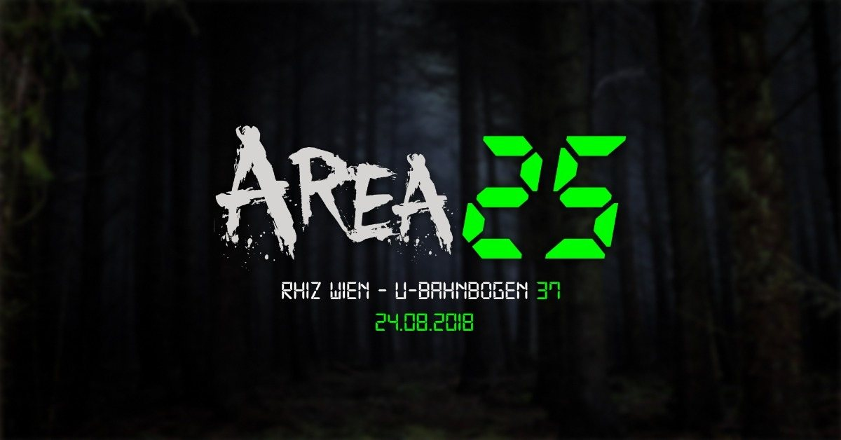 Party Flyer Area 25 - P³ 24 Aug '18, 22:00