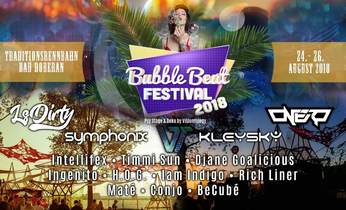 Party Flyer Bubble Beat Festival - PsyStage 24 Aug '18, 18:00