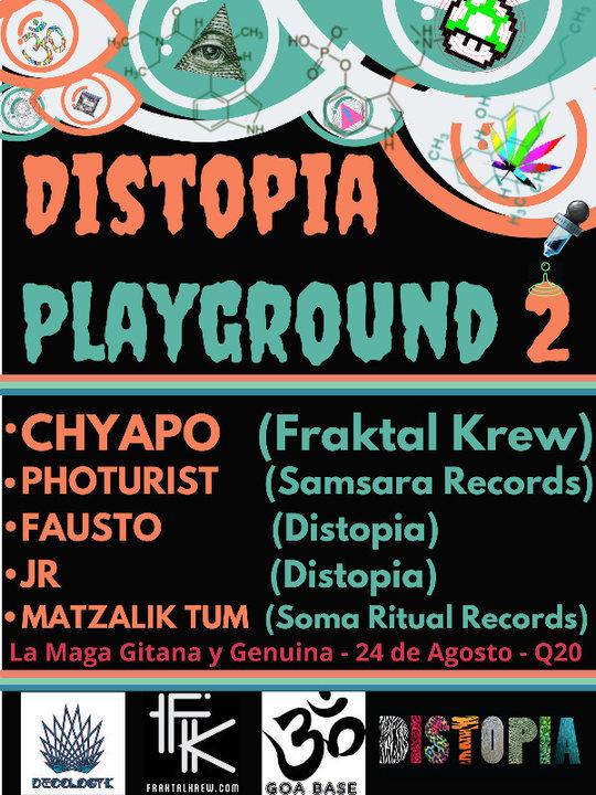 Party Flyer Distopia Playground #2 24 Aug '18, 21:00