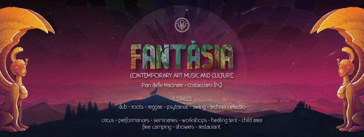 Party Flyer Fantàsia Festival - Contemporary Art Music & Culture 24 Aug '18, 16:00