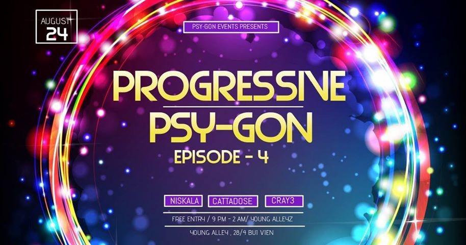 Party Flyer Progressive Psy-Gon Episode-4 24 Aug '18, 21:00