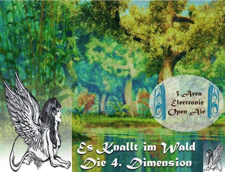 Party Flyer Es knallt im Wald - Die 4. Dimension 25 Aug '18, 14:00