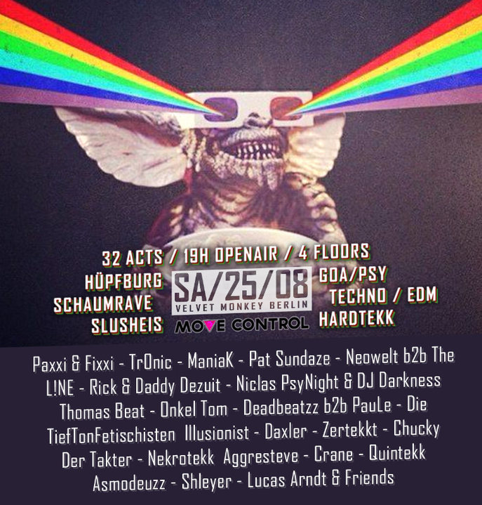 Party Flyer Move Control OpenAir 3 mit Hüpfburg & SchaumFloor + Clubnight 25 Aug '18, 15:00