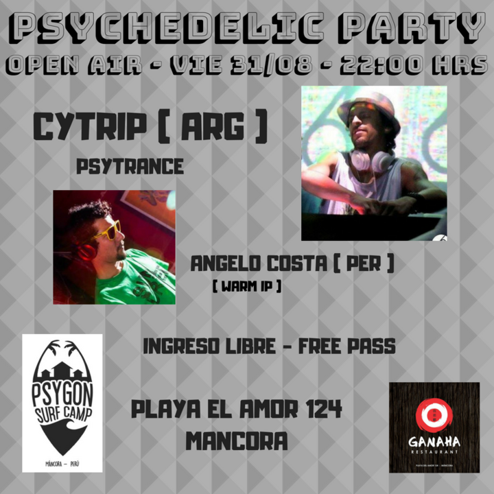 Party Flyer Psychedelic Party - open air 31 Aug '18, 22:00