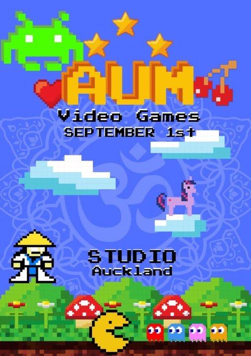 Party Flyer AUM - Video Games 1 Sep '18, 19:00