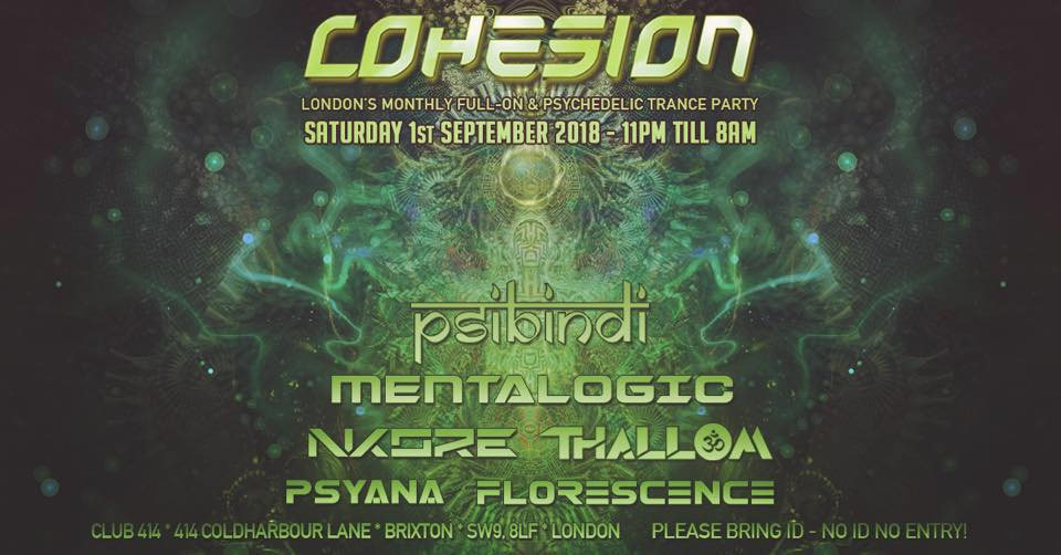 Party Flyer COHESION 1 Sep '18, 23:00