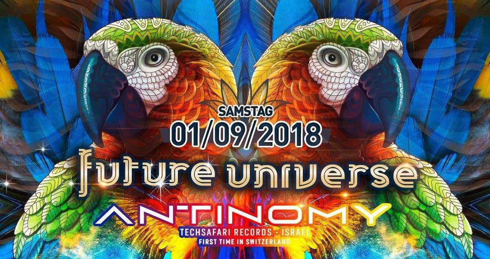 Party Flyer Future Universe w/ Antinomy, Kent Brockmen 1 Sep '18, 22:00