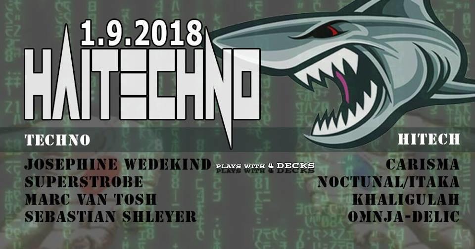 Party Flyer Hitech!! & Techno im Velvet Monkeys 1 Sep '18, 23:00