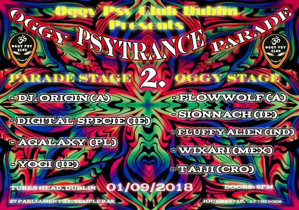Party Flyer Oggy Psytrance Parade 2 1 Sep '18, 21:00