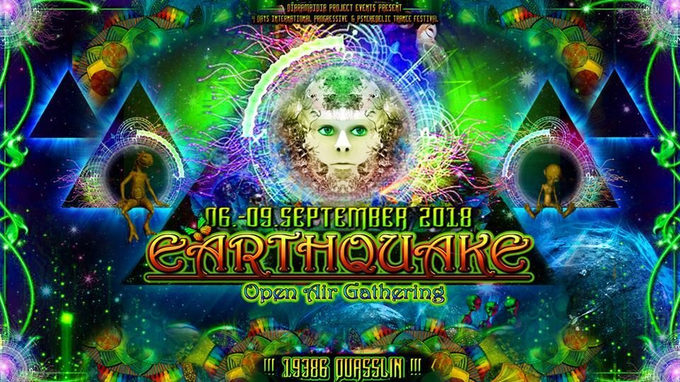 Party Flyer Earthquake Open Air Gathering 2018 6 Sep '18, 22:00