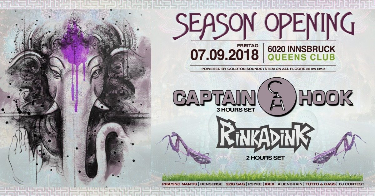 Party Flyer Psybox - Season Opening with Captain Hook & Rinkadink *live 7 Sep '18, 22:00