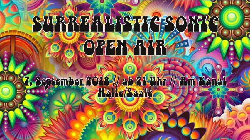 Party Flyer Surrealistic Sonic Open Air 7 Sep '18, 21:00
