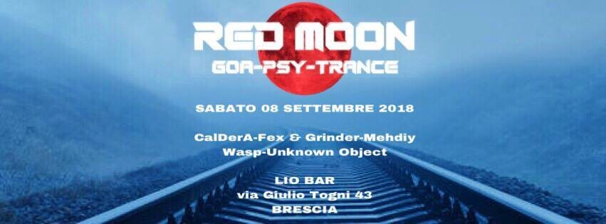 Party Flyer 08/09 Red Moon - Goa Night   Lio Bar 8 Sep '18, 22:00