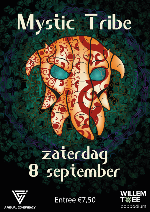 Party Flyer Mystic Tribe | Willem Twee Poppodium 8 Sep '18, 22:00