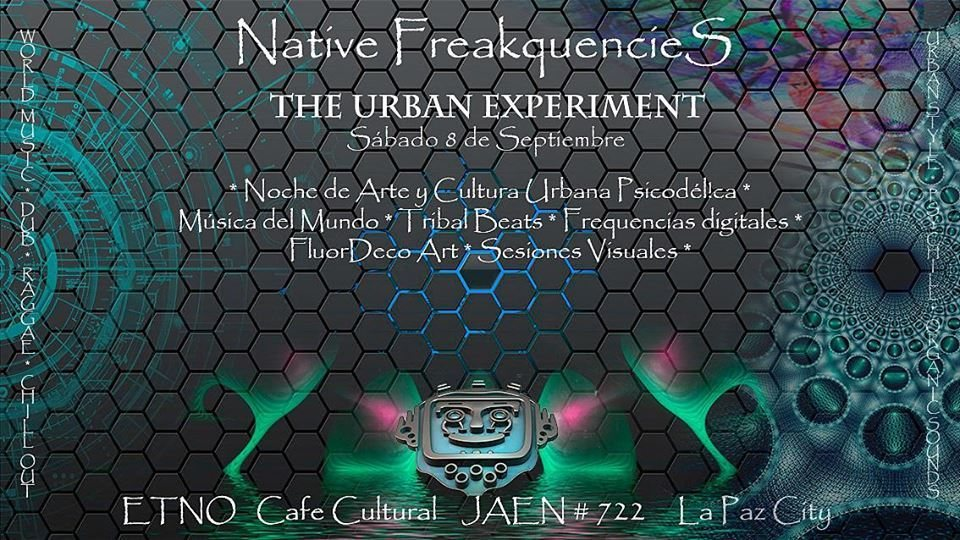 Party Flyer Native Freakquencies - The Urban Experiment 8 Sep '18, 20:00