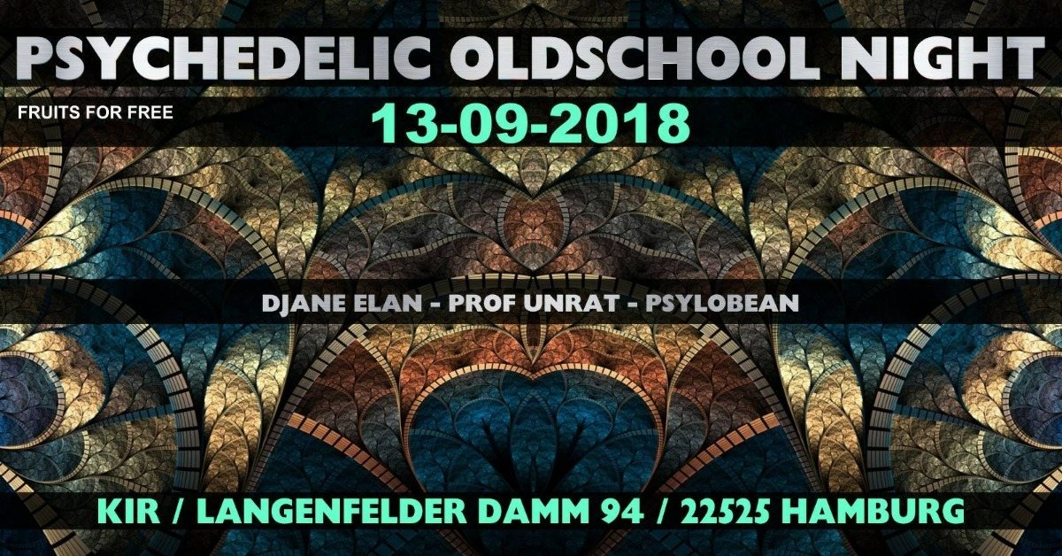 Party Flyer ॐ Psychedelic Oldschool Night ॐ 13 Sep '18, 22:00