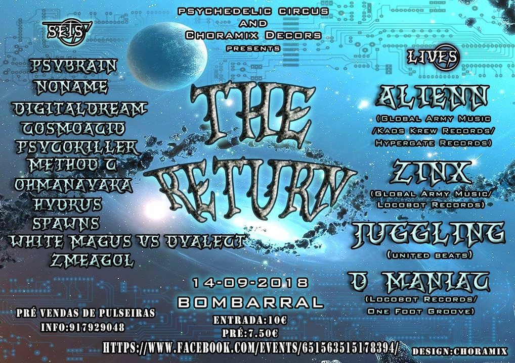 Party Flyer The Return 14 Sep '18, 22:00
