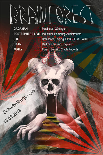 Party Flyer Brainforest III 15 Sep '18, 20:30