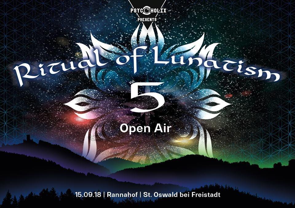 Party Flyer PsycoholiX presents: Ritual of Lunatism vol. 5 - OPEN AIR - ab 21 Jahren! 15 Sep '18, 20:00
