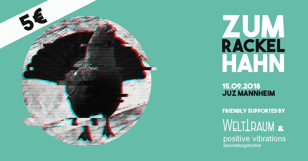 Party Flyer ZUM RACKELHAHN 15 Sep '18, 23:00