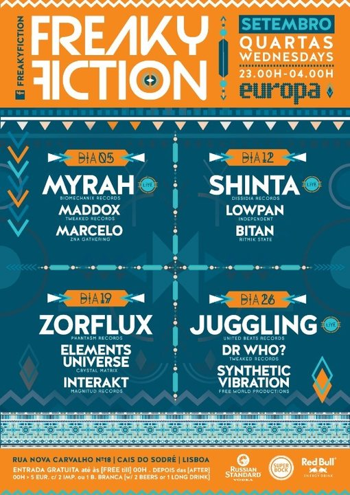 Party Flyer FREAKY FICTION 19 Sep '18, 23:00