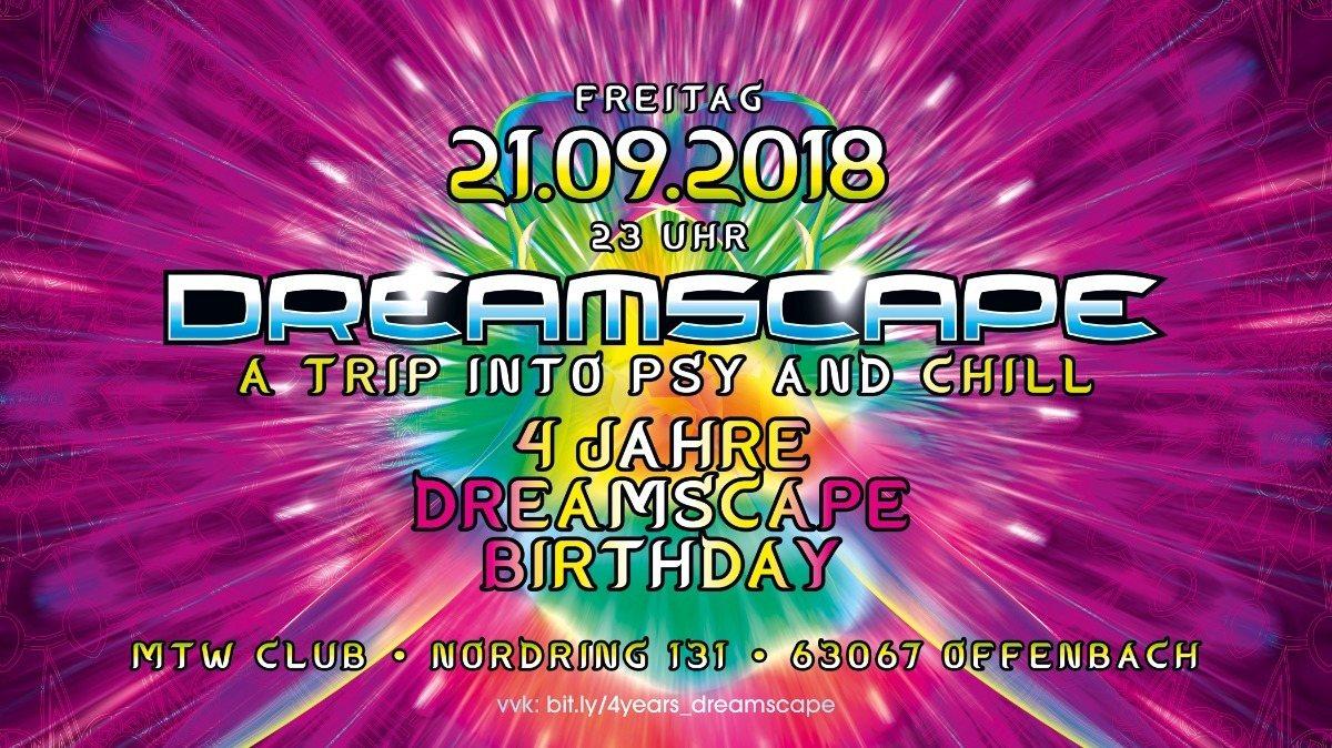 Party Flyer 4 Jahre Dreamscape mit Blastoyz. Dsompa and more 21 Sep '18, 23:00