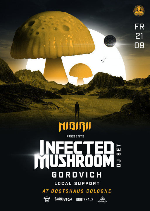 Party Flyer Infected Mushroom (HOMmega) pres. by Nibirii 21 Sep '18, 23:00