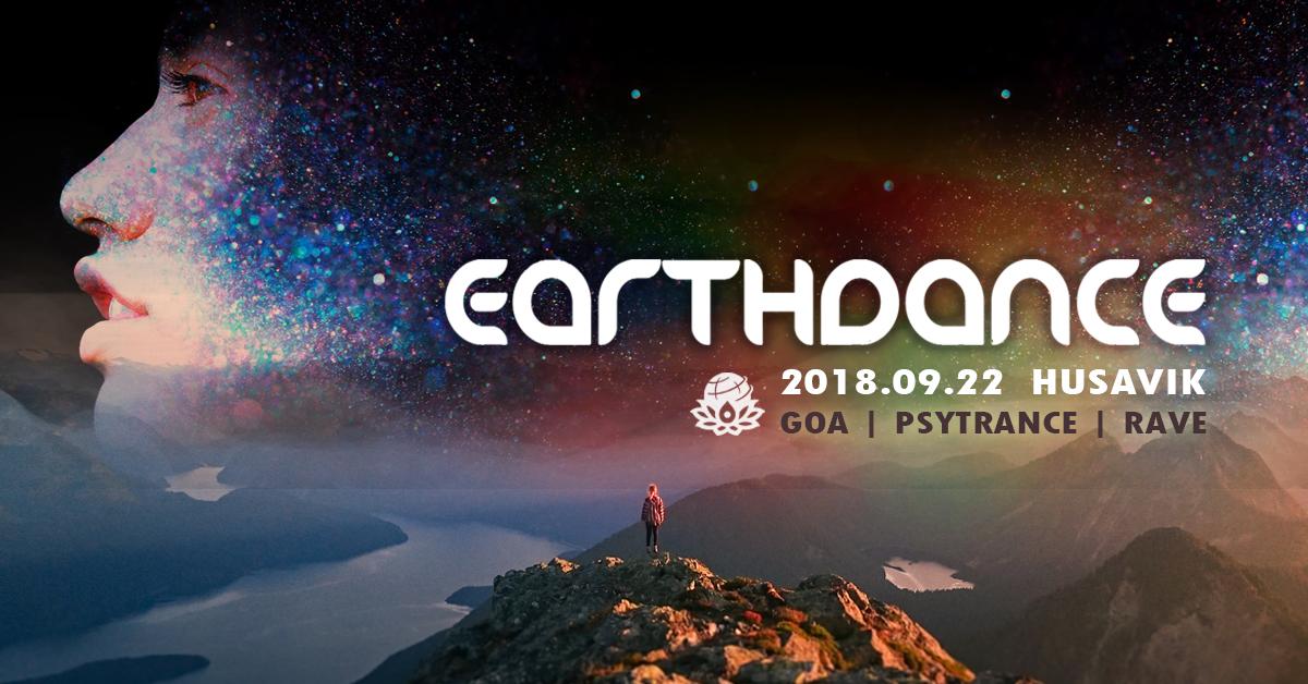 Party Flyer Earthdance - Rave for Peace - Husavik, Iceland 22 Sep '18, 23:30