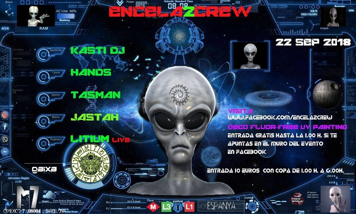 Party Flyer ENCELA2CREW PRESENTS: 22 Sep '18, 23:30