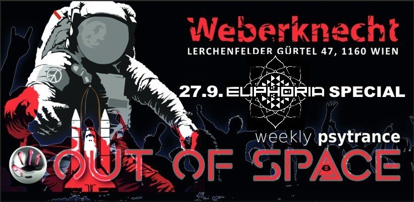 Party Flyer OUT of SPACE Euphoria Special 27 Sep '18, 22:00