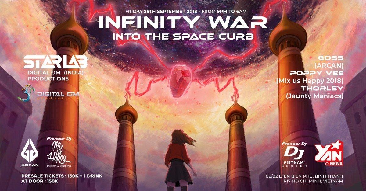 Party Flyer Infinity War - W./ Starlab (Digital Om) - Arcan x MuH 28 Sep '18, 21:30