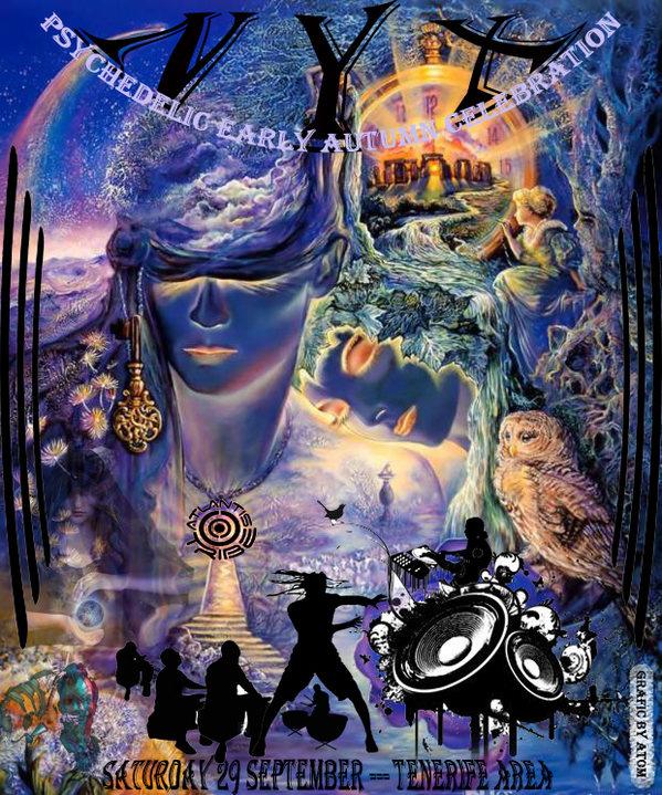 Party Flyer NYX - PSYCHEDELIC EARLY AUTUMN CELEBRATION -ATLANTIS TRIBE 29 Sep '18, 22:00