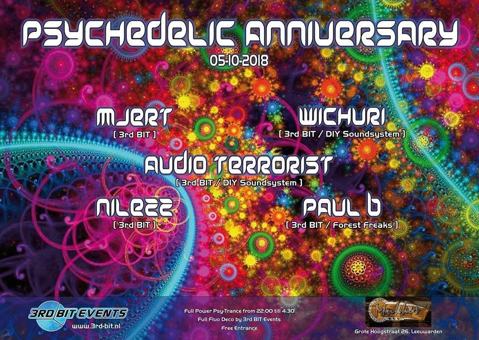 Party Flyer Psychedelic Anniversary 5 Oct '18, 22:00