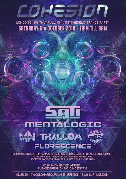 Party Flyer Cohesion 6 Oct '18, 23:00
