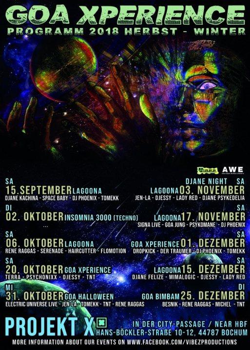 Party Flyer ★Lagoona★ Progressive & Psychedelic Trance / Goa Xperience 6 Oct '18, 23:00