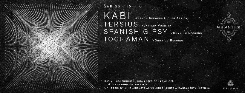 Party Flyer Ohmnium Records Present. Kabi & Tersius Live 6 Oct '18, 23:30