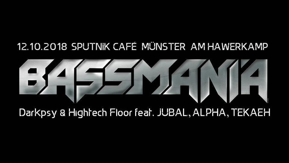 Party Flyer Bassmania - DarkPsy & Hightech Floor 12 Oct '18, 23:00