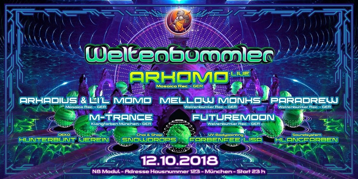 Party Flyer Weltenbummler back to the roots 12 Oct '18, 23:00