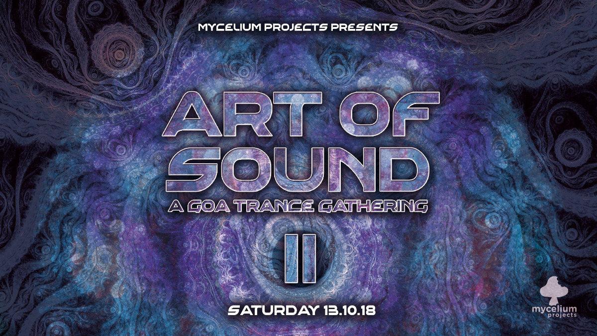 Party Flyer Art of Sound II - Slinky Wizard / Denshi Danshi 13 Oct '18, 21:00