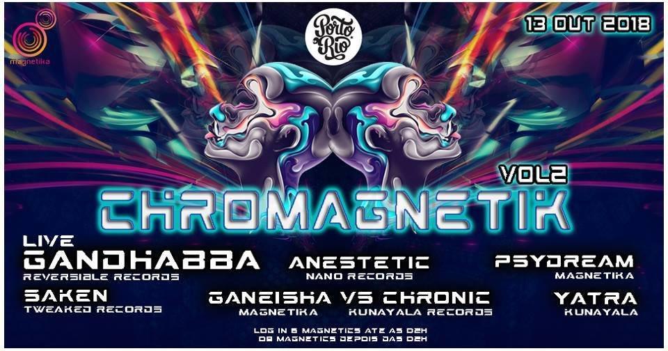 Party Flyer Chromagnetika Vol.2 13 Oct '18, 23:30