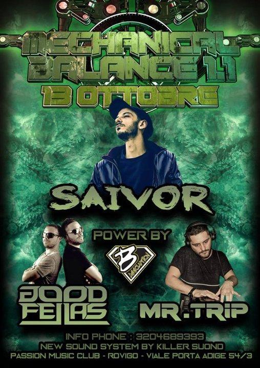 Party Flyer MECHANICAL BALANCE 1.1 FEAT SAIVOR- GOODFELLAS - MR.TRIP 13 Oct '18, 23:00