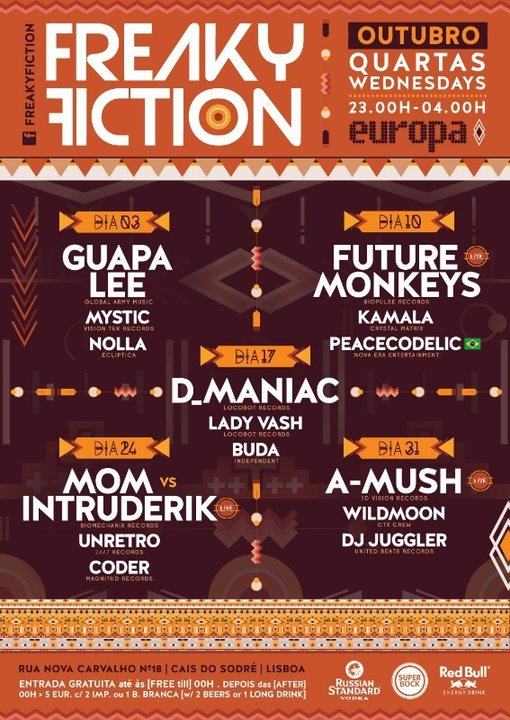 Party Flyer FREAKY FICTION 17 Oct '18, 23:00