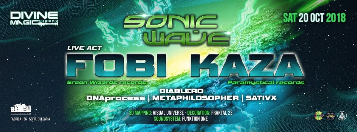 Party Flyer Divine Magic Theory: Sonic Wave 20 Oct '18, 22:00